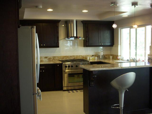 espresso shaker kitchen cabinets home design traditional kitchen