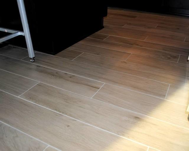 Etic Rovere Grigio Rectified Tile - Kitchen - other metro - by Hatchett Design/Remodel