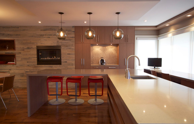 Etobicoke Residence Contemporary Kitchen Other Metro By Oomph Design Inc