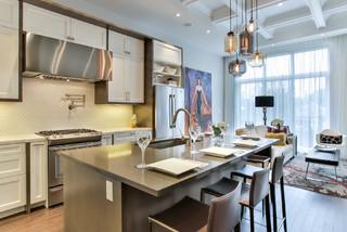 Etobicoke Toronto Design Build Of New Residential Home Transitional Kitchen Toronto