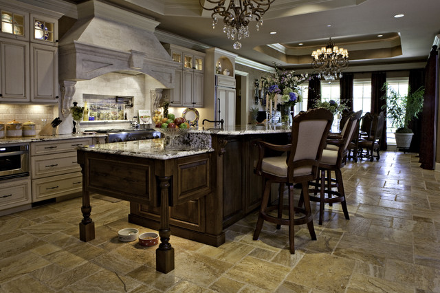 European and tuscan style gourmet kitchen Gourmet kitchen plans