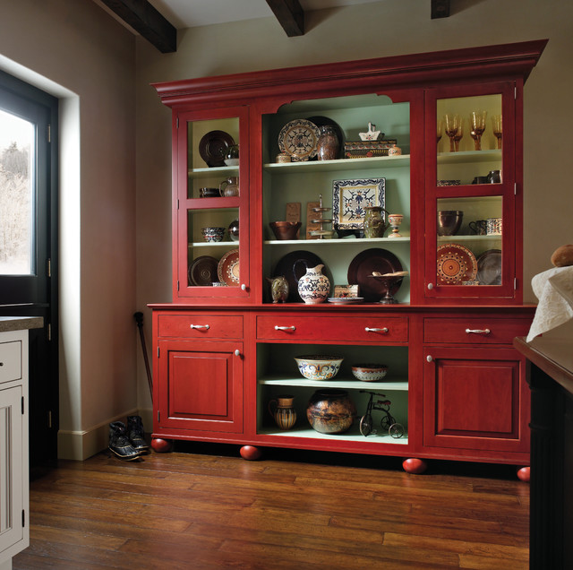 European Country Kitchen - Traditional - Kitchen - by Wood-Mode Fine Custom Cabinetry