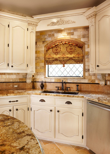 European flair kitchen in plano traditional kitchen for Traditional european kitchen