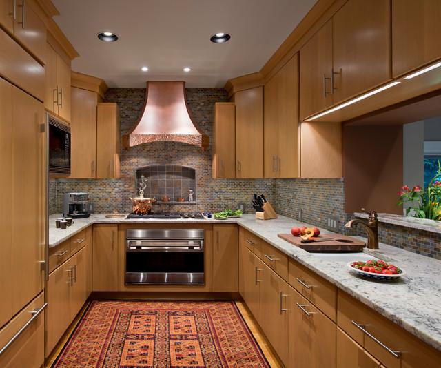 European Galley Kitchen Contemporary Kitchen Other