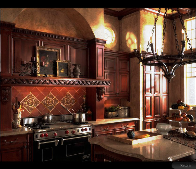 European Heritage Traditional Kitchen traditional kitchen