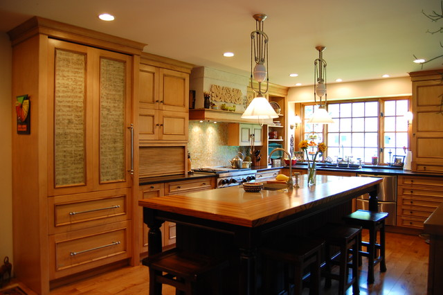 European Modern eclectic-kitchen