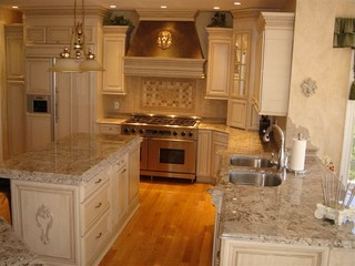 European Oasis on the Mountain - Mediterranean - Kitchen ...