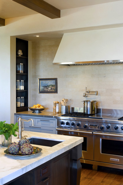 Evergreen Drive transitional-kitchen
