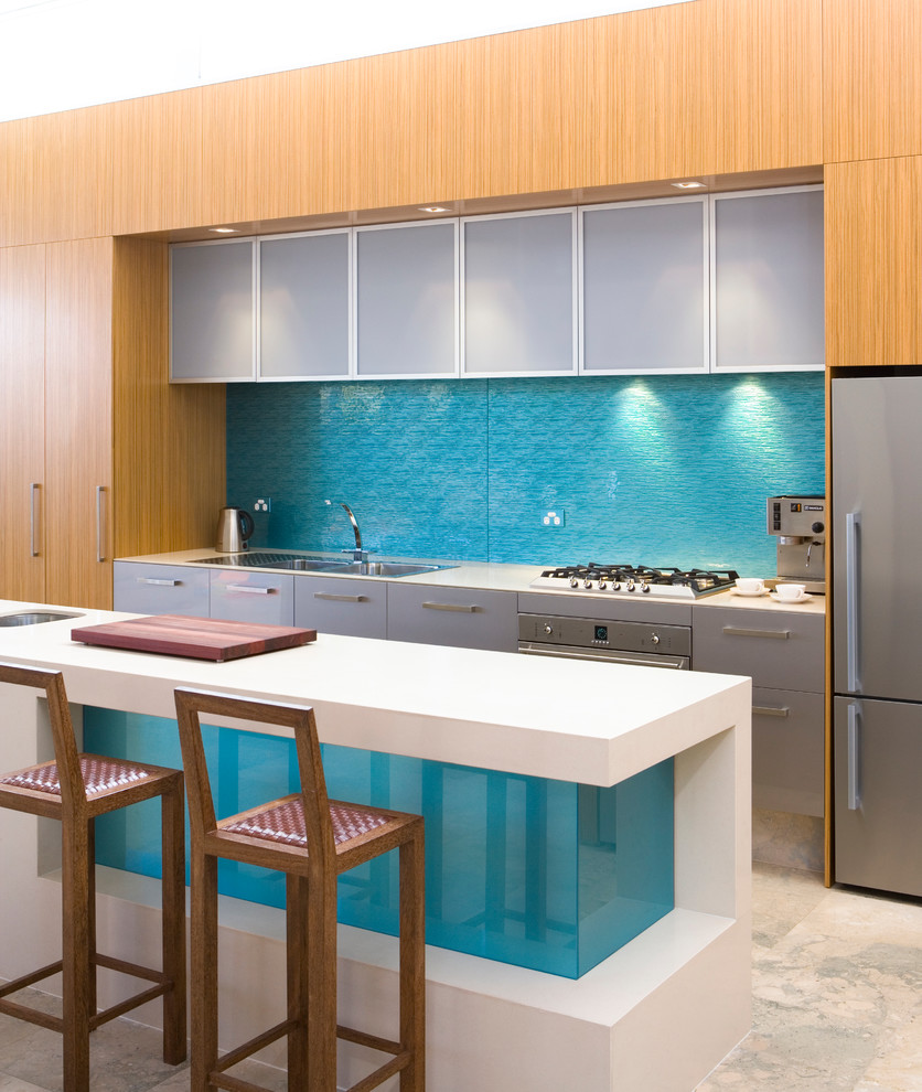 - Examples Of LustreGlass Splashbacks - Contemporary - Kitchen