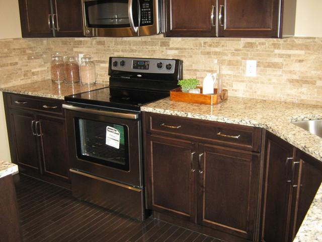 Excel Show Home U2022 Hillcrest, Airdrie Kitchen U2022 Venetian Ice Granite Kitchen