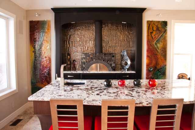 Excellence in interior design contemporary kitchen for Interior designs red deer