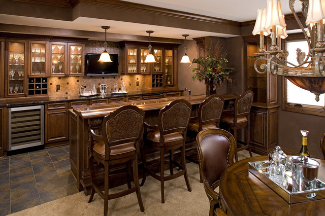 Exceptional Bars Traditional Kitchen