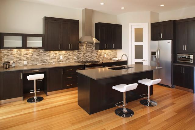 Executive Calgary Semi-detached contemporary-kitchen