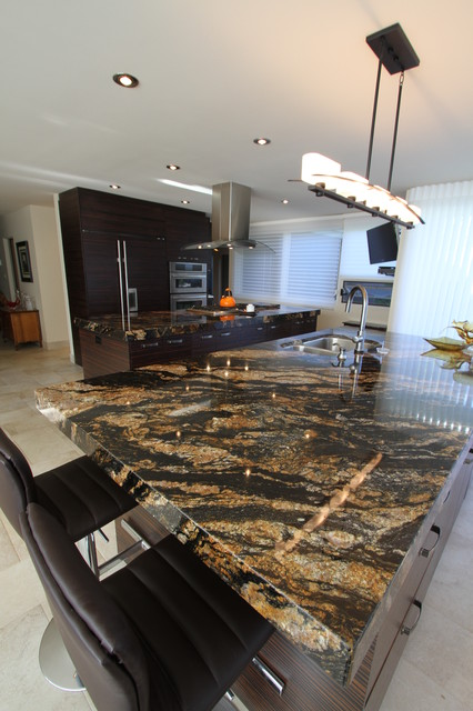 Exotic Wood, Amazing Counters and Frank Loyd Wright! modern-kitchen