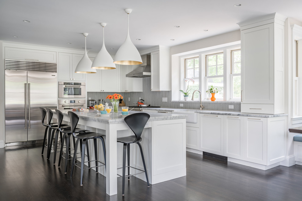 Expansive Winchester Ma Kitchen Remodel Transitional Kitchen Boston By Right Angle Kitchens
