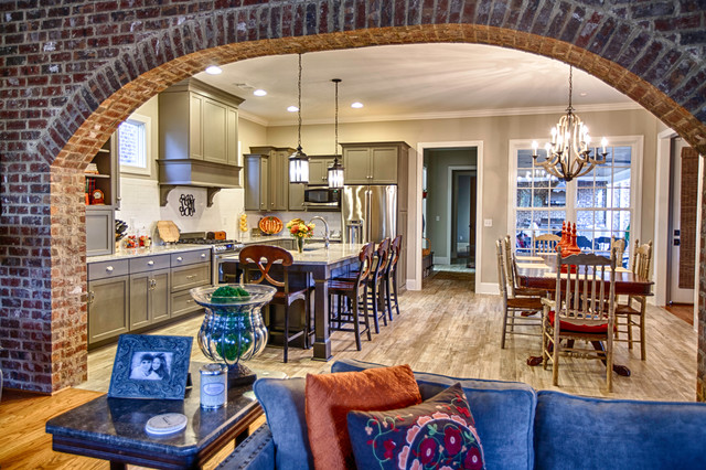 Rustic open concept kitchen for Rustic concept