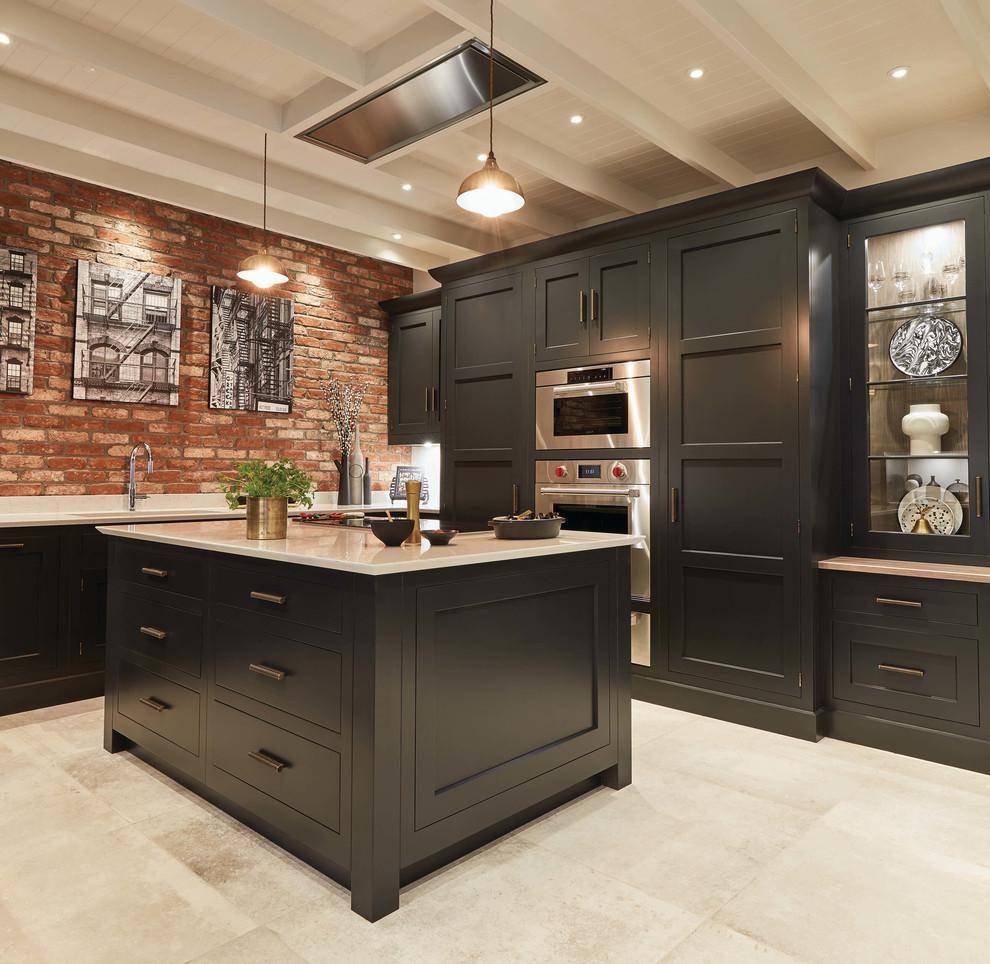 Exposed Brick Kitchen Transitional Kitchen Cambridgeshire By Tom Howley Houzz