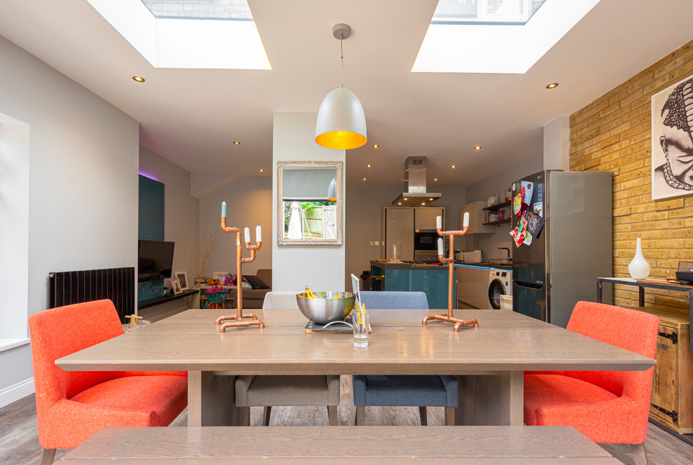 Extension Kitchen To Patio With Large Bi Fold Door Contemporary Kitchen London By Scaleruler Co Architect Interiors Photography