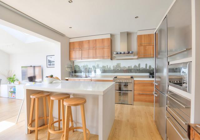 Extension to 1930 39 s semi contemporary kitchen for Bathroom ideas 1930s semi