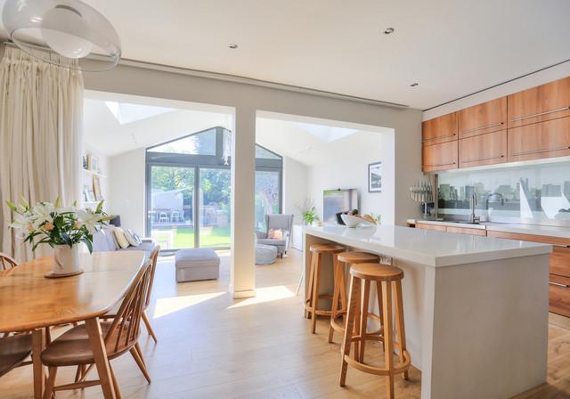 Extension To 1930 S Semi Contemporary Kitchen Hertfordshire