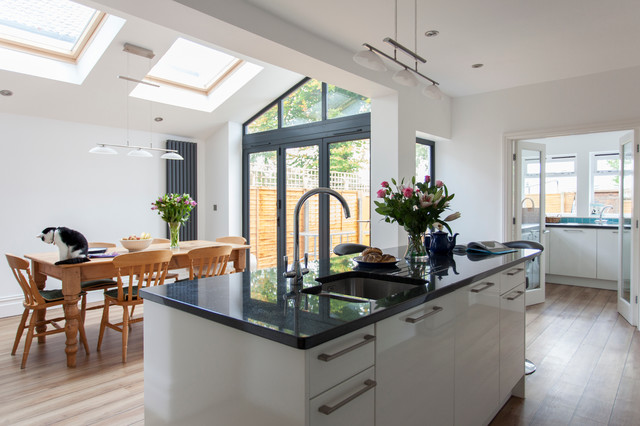 Kitchen ceiling lights ideas design ideas pictures remodel and decor - Extension To An Edwardian House In Bristol Contemporary