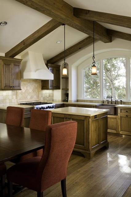 Exterior, Entry, Living Room, Kitchen and Bedroom mediterranean-kitchen