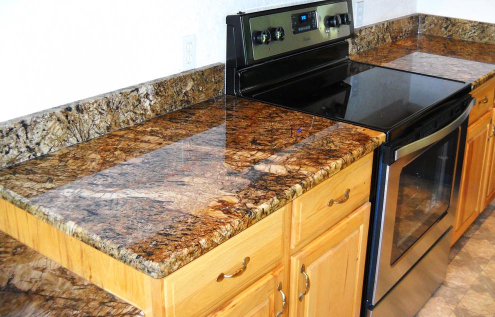 Extreme Copper Granite Kitchen