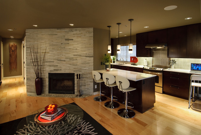Extreme Makeover Contemporary Kitchen Seattle By Midori Yoshikawa Design Group