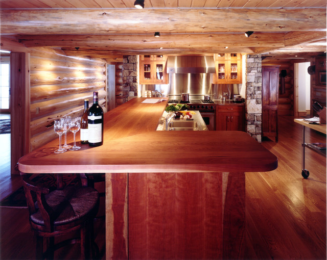 Extreme remodel in jackson hole rustic kitchen other for Kitchen jackson hole