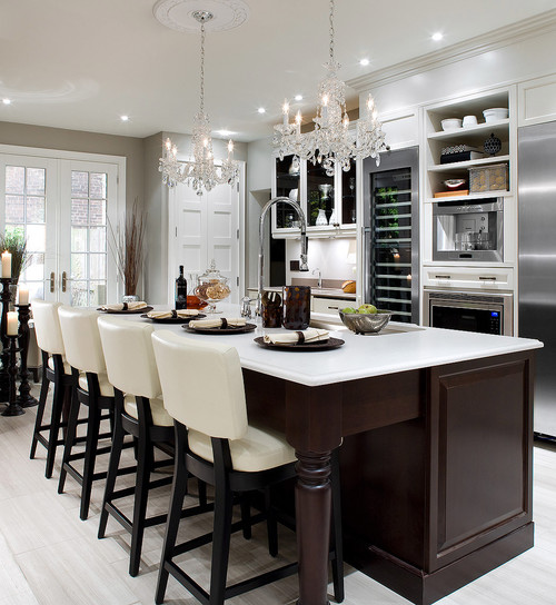 Pendants vs Chandeliers Over a Kitchen Island ReviewsRatings