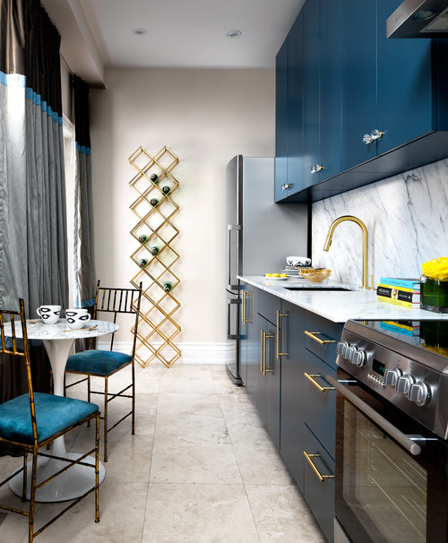 Monochrome design, metallics and pops of colours are what dream kitchens are made of