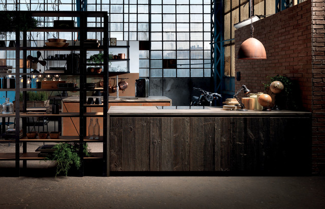 Factory - Industrial - Kitchen - New York - by Aster Cucine