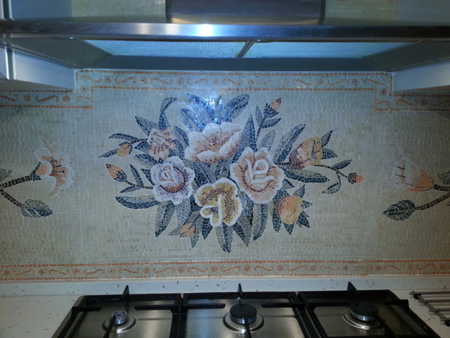 Faience Mosaic For Kitchen Tiles Traditional Kitchen Other Metro By Syt Natural Stones