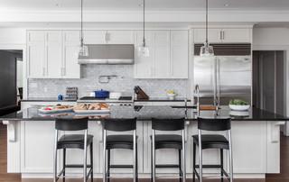 Fair Oaks Residence Kitchen Island Transitional
