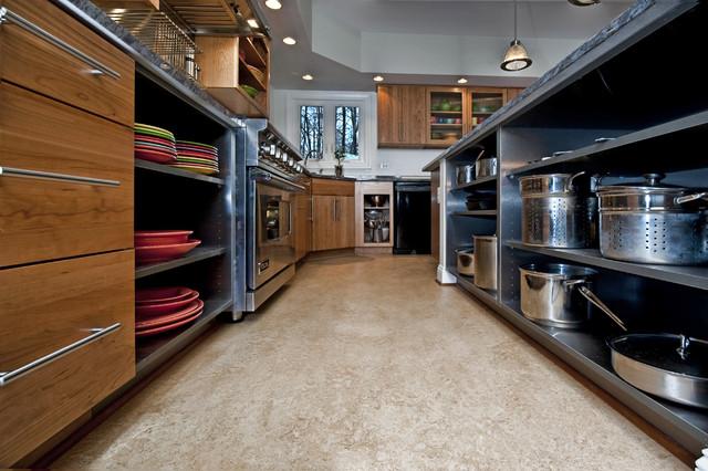 Synergy design construction design build firms - Fairfax Station Kitchen Base Shelves Industrial