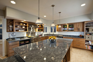 Fairfax Station Kitchen - Corner Window & 4 Beautiful Countertop Materials for Your New Home | Bayfair Custom ...
