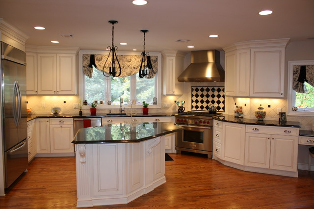 Fairfield NJ Traditional Kitchen - White Painted Maple ...