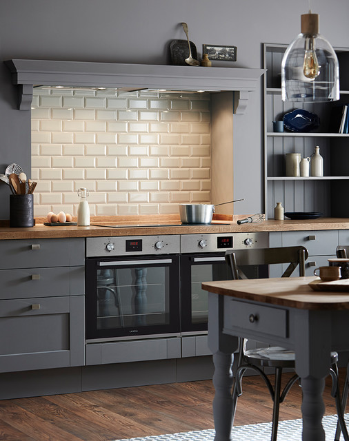 Fairford Slate Grey Shaker Style Kitchen Traditional Kitchen - Howdens cuisine