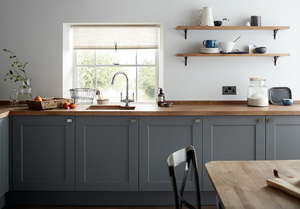 Fairford Slate Grey Shaker Style Kitchen Traditional Kitchen Other By Howdens
