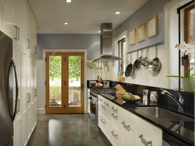 Fairmount row home transitional kitchen philadelphia by rasmussen su architects Bathroom design centers philadelphia