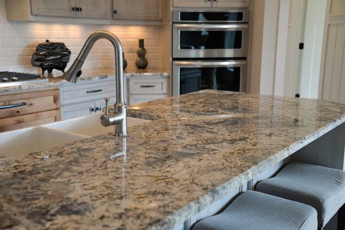 Blue Flower Granite Kitchen Countertop