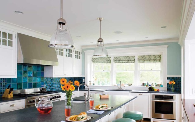 Falmouth Beach House Eclectic Kitchen Boston By