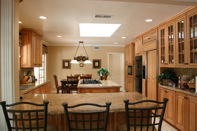 Traditional Open Kitchen Designs family friendly kitchen - traditional - kitchen - los angeles -