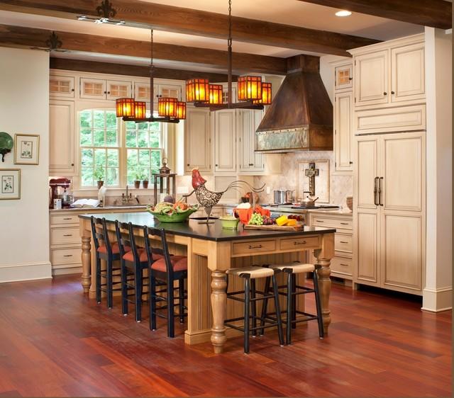 Family Friendly Mountain Retreat - Traditional - Kitchen ...
