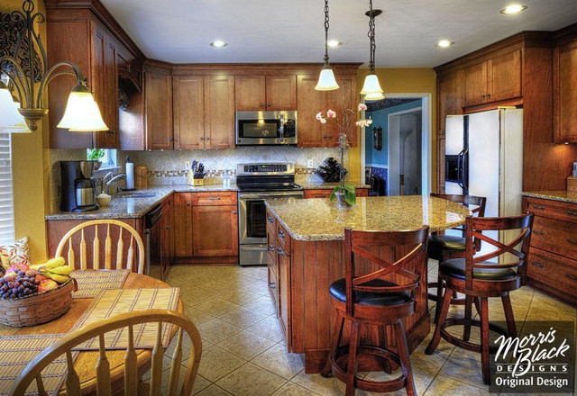 Family Kitchen With Eat In Island Traditional Kitchen Other Metro By Lydia Bogle