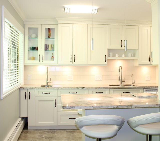 White Kitchen Cabinets Yellow Granite: Fantasy Brown Granite