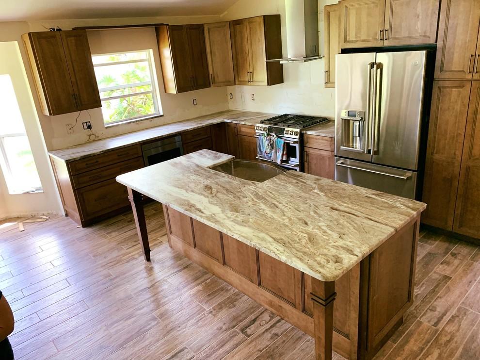 FANTASY BROWN GRANITE LEATHER - Kitchen - Tampa - by KB ...
