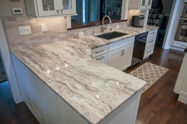 Fantasy Brown Quartzite Countertops Traditional Kitchen