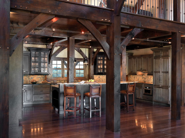 Farm house in Northeast Missouri rustic-kitchen