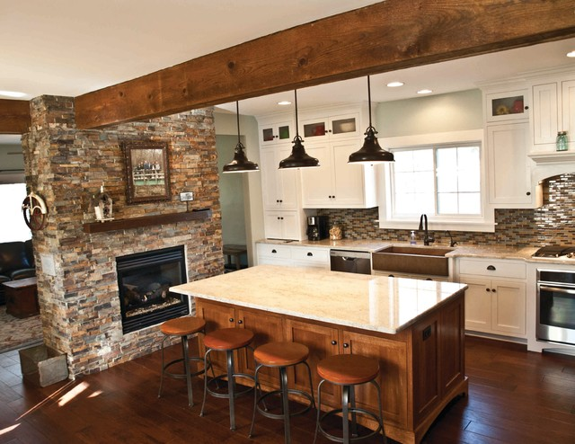 Farm House Kitchen Remodel Council Bluffs Ia Rustic